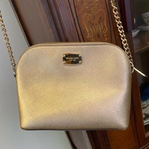 Michael Kors Gold Dome Crossbody Bag